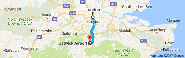London Gatwick Map
