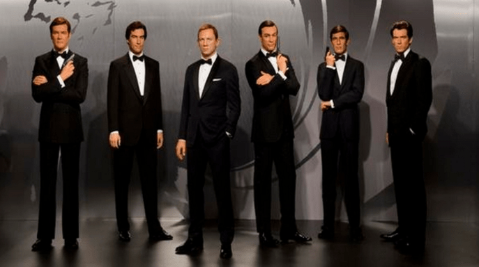 History of 007 at wax museum london