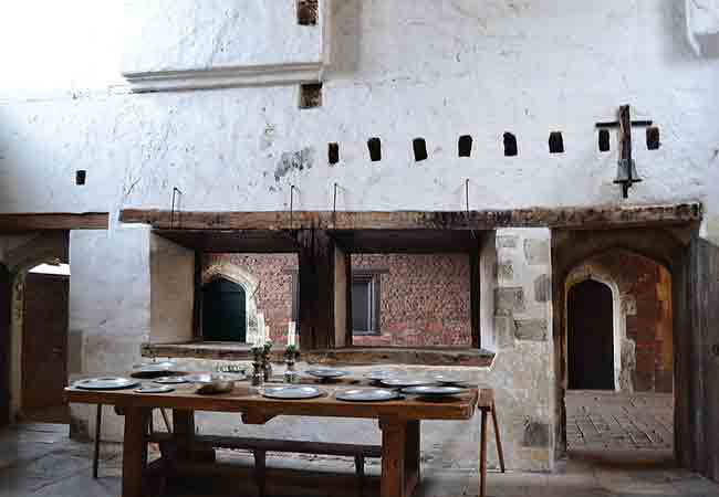 Hampton Palace - The huge Tudor kitchen where food was made to feed the entire palace