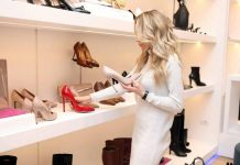 boutique choosing from range of stylish women's shoes 2
