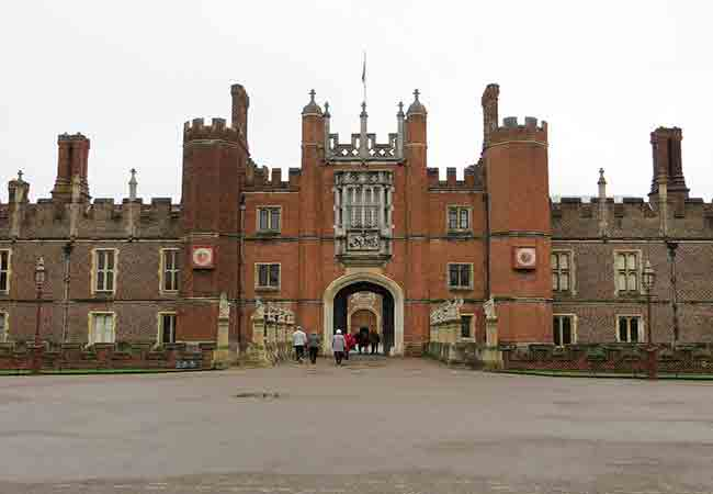 view from outside of hampton court
