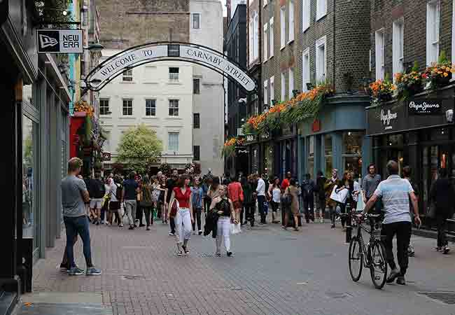 places to shop in London. Carnaby Street