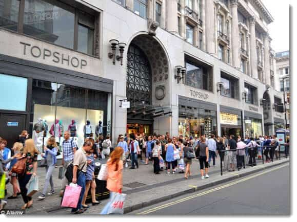 How Many Fashion Shops In Oxford Street London
