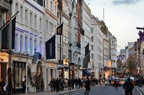 Shopping in London -Bond Street