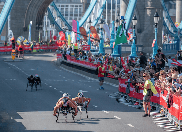 London Marathon 2018-MEN'S WHEELCHAIR RACE