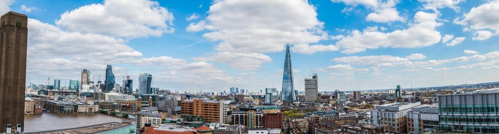 Shard and view of london-